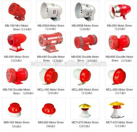 Mini Sirine Ms 190 g218 ms 190 mini motor alarm siren 114db dc12v dc24v ac110v ac220v