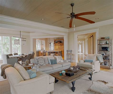low country tree house style living room