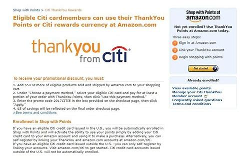 citibank deals amazon