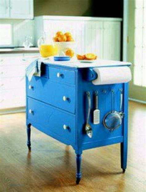 Dresser Kitchen Island | old dresser turned kitchen island diy crafty stuff