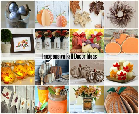 cheap fall decorations for home acorn craft ideas the idea room