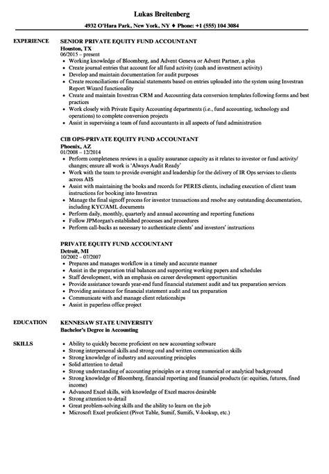 fund accountant resume resume ideas