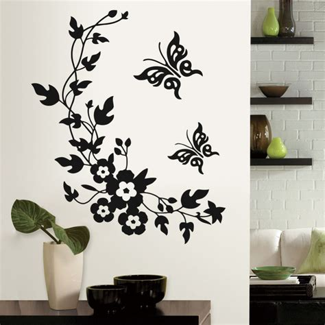 3d Wall Sticker 14952275 3d butterfly flowers wall sticker for room bedroom