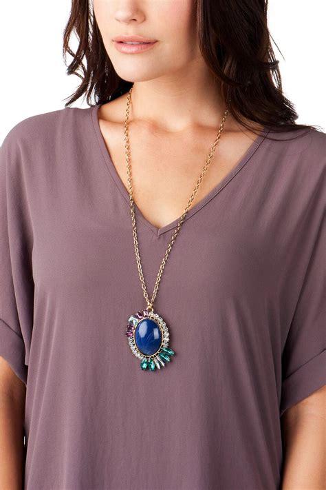 Jeweled Pendant buena vista jeweled pendant necklace s