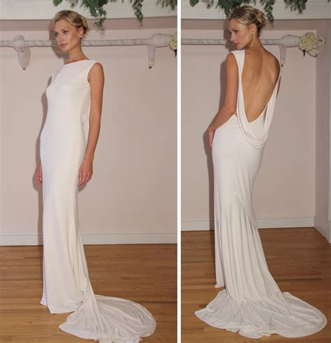2012 wedding dress open back simple bridal style onewed com