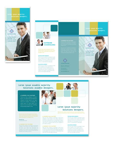 software brochure templates software developers tri fold brochure template