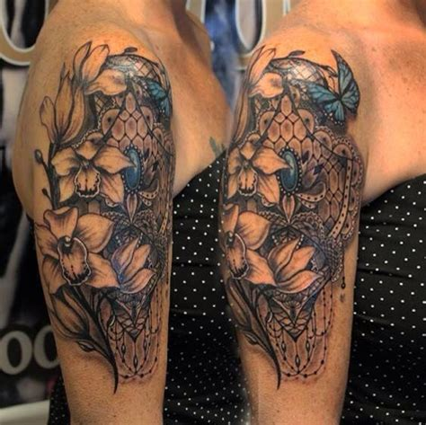 lace quarter sleeve tattoo 24 best tattoos images on pinterest botanical