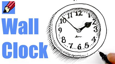 Drawing 8 Hours A Day by How To Draw A Wall Clock Real Easy