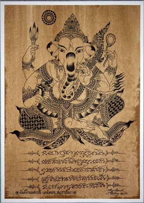 thai ganesh tattoo 144 curated thai art classic line ideas by