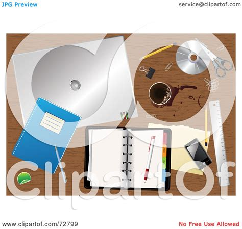 Office Supplies Eugene Royalty Free Rf Clipart Illustration Of A Cluttered