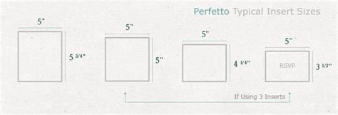 rsvp insert template business card size cards pockets perfetto sizing guide