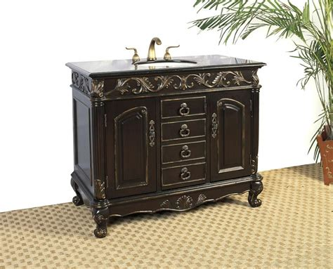 41 Inch Bathroom Vanity 41 Inch Single Sink Bathroom Vanity With Distressed Espresso Finish Uvlf06141