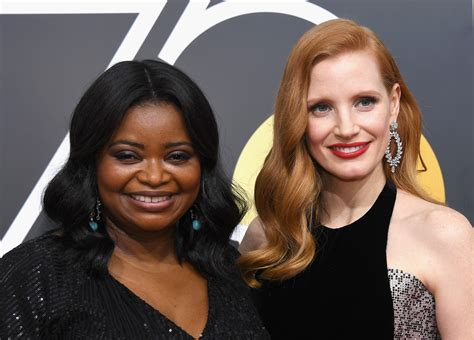octavia spencer jessica chastain comedy jessica chastain helped octavia spencer with the wage gap