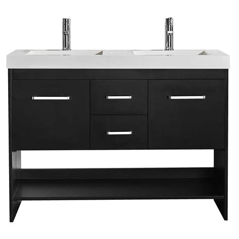 black bathroom drawers siena 48 in w x 21 in d vanity in espresso with acrylic