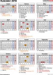 Kalender 2018 Med Helligdager Kalender 2018 Zum Ausdrucken In Excel 16 Vorlagen