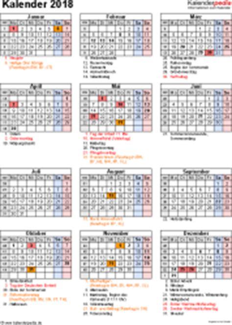 Kalender 2018 Feiertage Luxemburg Kalender 2018 Zum Ausdrucken In Excel 16 Vorlagen