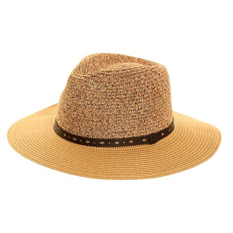 s243 womens straw fedora hat with a plain band ssp hats