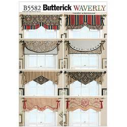 Pattern For Valance Butterick Pattern Reversible Window Valance One Size