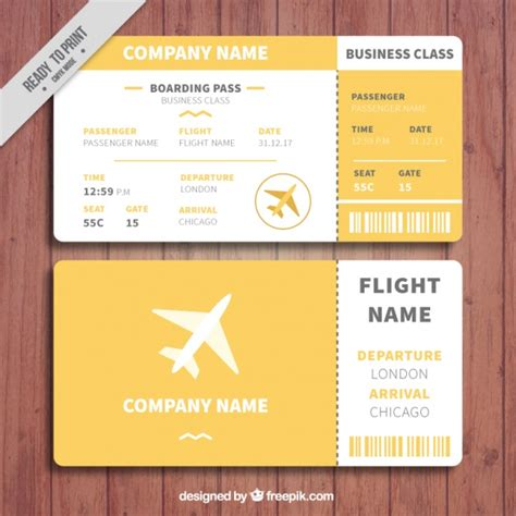 orange and white boarding pass template vector free download