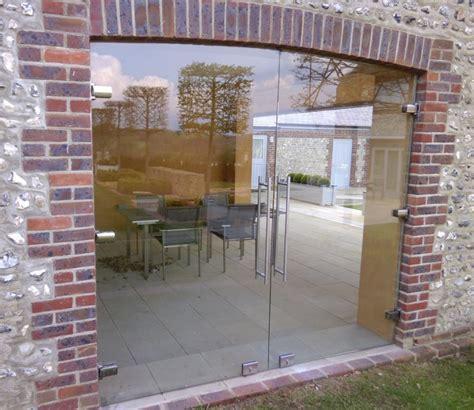 Frameless Glass Exterior Doors Heritage Frameless Glass Doors Ionglass