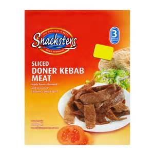Snacksters sliced doner kebab meat 600g frozen burgers frozen meat
