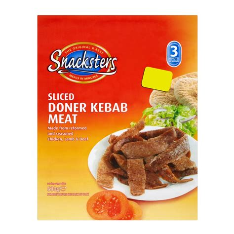Kebab Frozen Food snacksters sliced doner kebab 600g frozen burgers frozen poultry frozen iceland