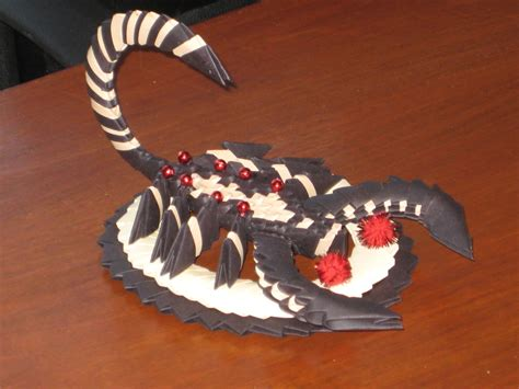 How To Make An Origami Scorpion - scorpion 3d origami by esmeraldaarribas on deviantart