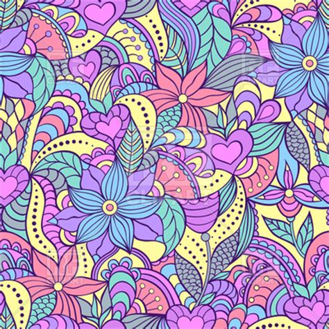 abstract seamless floral pattern background free vector seamless pattern with abstract flowers motley floral