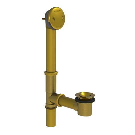 watco bathtub faucets watco 501 series 16 in tubular brass bath waste with