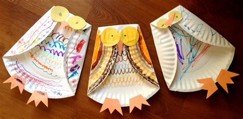 Paper Plate Snowy Owl Craft - fall paper plate crafts for ye craft ideas