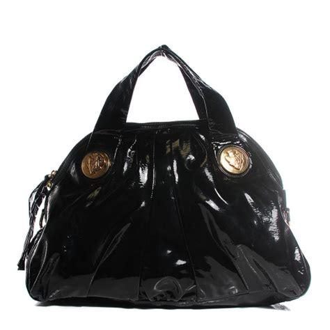 Gucci Positano Medium Top Handle Bag In Black by Gucci Patent Medium Hysteria Top Handle Bag Black 104843