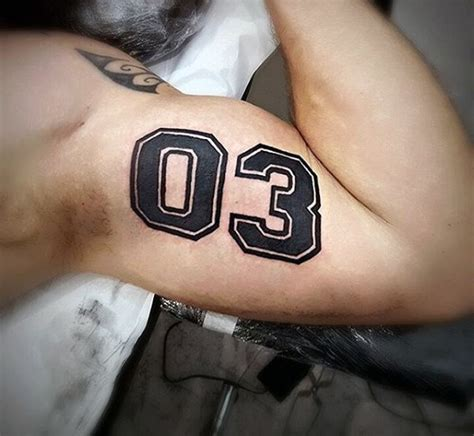 tattoo pictures numbers 70 number tattoos for men numerical ink design ideas