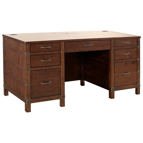 Becker Furniture Woodbury by Aspenhome Canfield 66 Quot Exec Desk With Ac Outlets Becker