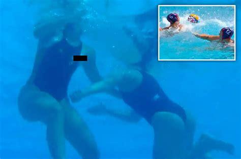 rio olympics wardrobe malfunction at rio 2016 free rio 2016 olympic water polo player suffers awkward nip