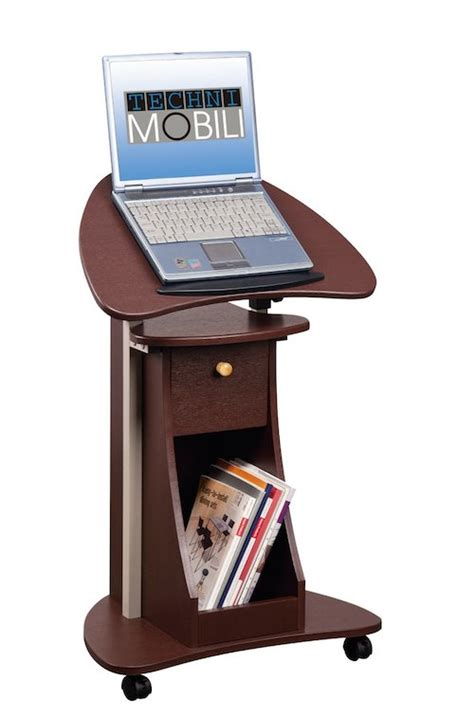 rolling standing desk stand up desk rolling laptop cart with storage