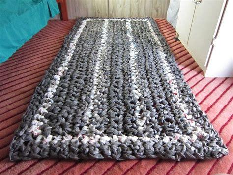 crochet plastic bags rug pattern crochet plastic bag rug rugs ideas