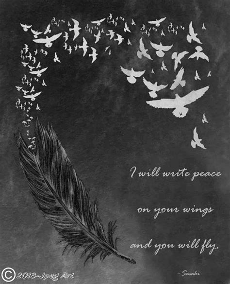 feather tattoo etsy feather and birds artwork with quote by jpegart on etsy