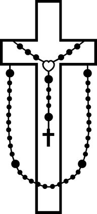cross with rosary rosaries quiring monuments