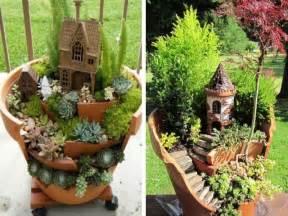 recyclage cr 233 er des mini jardins dans des pots cass 233 s