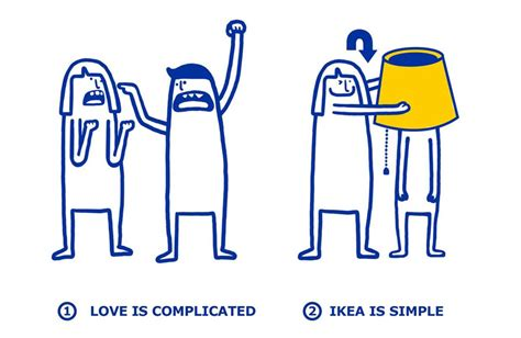 ikea fun ikea shows how easy it is to fix your love problems