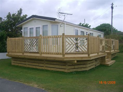 caravan decking lodge decking mobile home decks