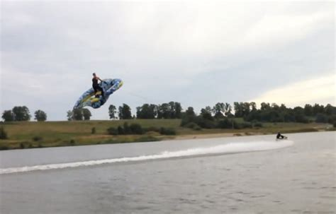 flying boat tube video count me in kite tube towed behind boat takes flight