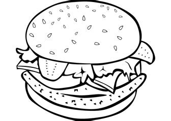 burger coloring pictures