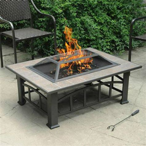large fire pit table and fire pit liner square fire pit design ideas