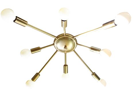 atomic wide 8 arm flush mount sputnik ceiling light starburst