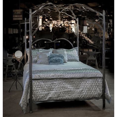 Forest Canopy Bed Enchanted Forest Canopy Bed Iron Canopy Bed Timeless Wrought Iron
