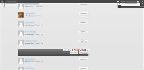 wordpress add layout wordpress buddypress adding friends breaks layout