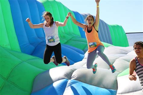 bounce house 5k themed runs in upstate ny list of 2016 fun runs with inflatables mud more