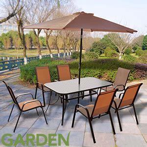 buy corfu  piece garden furniture set  home bargains
