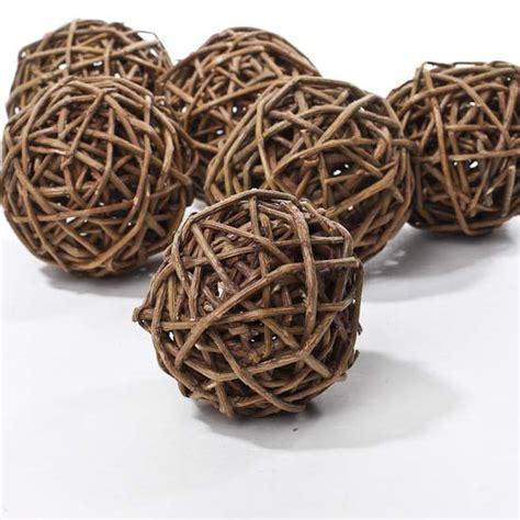 grapevine balls 3 quot twig grapevine balls 6pcs vase fillers table scatters floral supplies craft